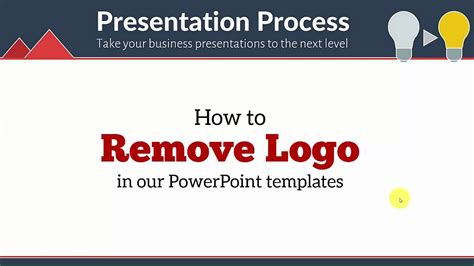 how to use a template in powerpoint how to remove logo in your powerpoint templates