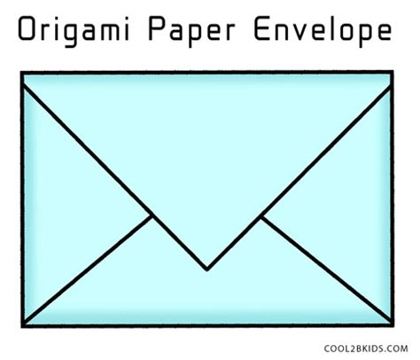 An Envelope From Paper - how to make your own origami envelope from paper cool2bkids