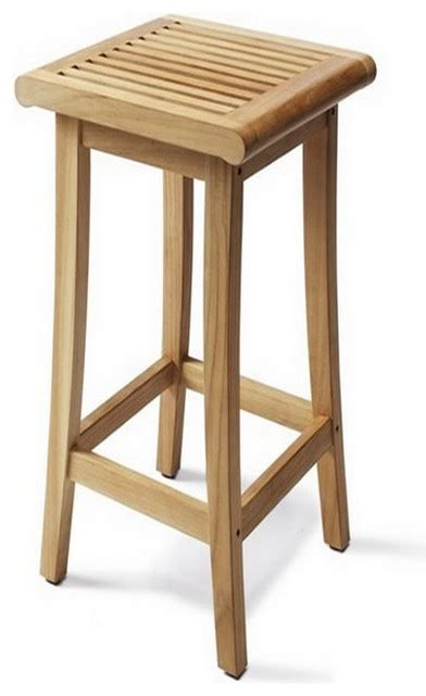 contemporary outdoor bar stools teak giva backless bar stool contemporary outdoor bar