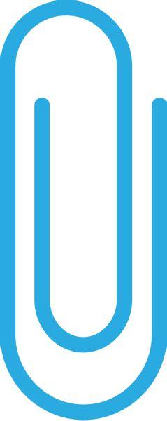 Light Blue Paper Clip Vector Data Svg Vector