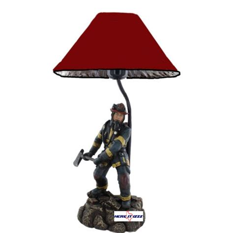 Bath And Shower Accessories firefighter with axe lamp