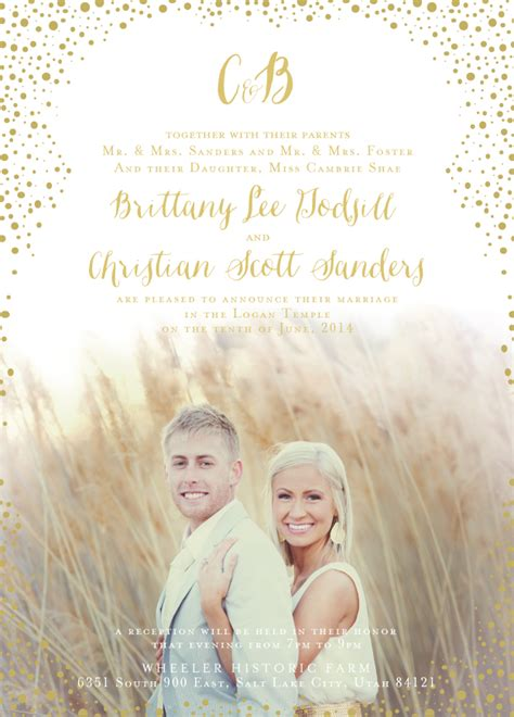 Wedding Invitations Lds by Lds Wedding Invitation Wording Theruntime