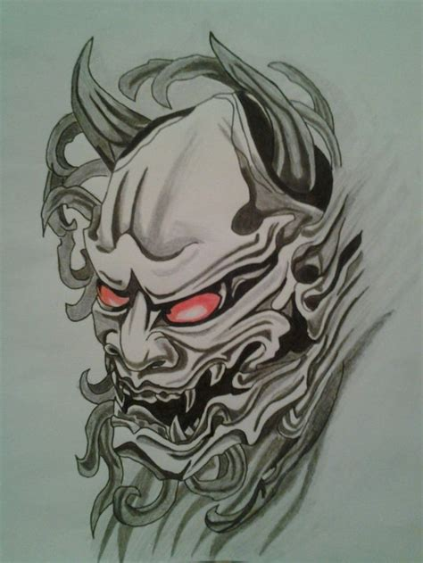 japanese devil mask tattoo designs 372 best hannya mask images on ideas
