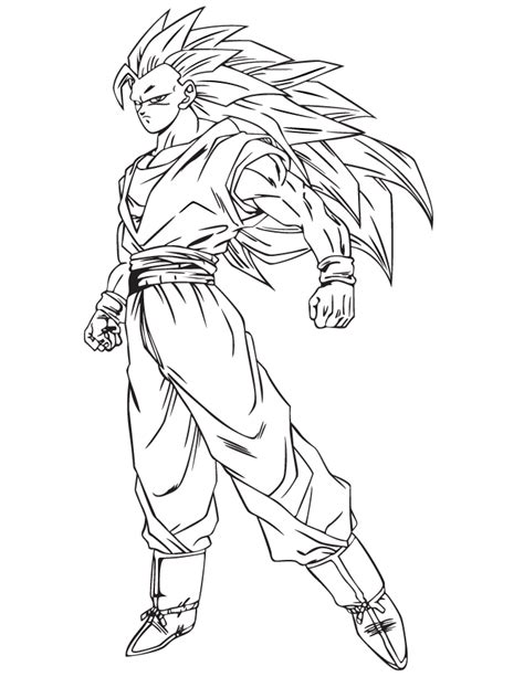 Free Coloring Pages Of Bardock 3 Coloring Pages Goku