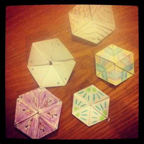 Origami Hexaflexagon - 44 best images about hexaflexagon on