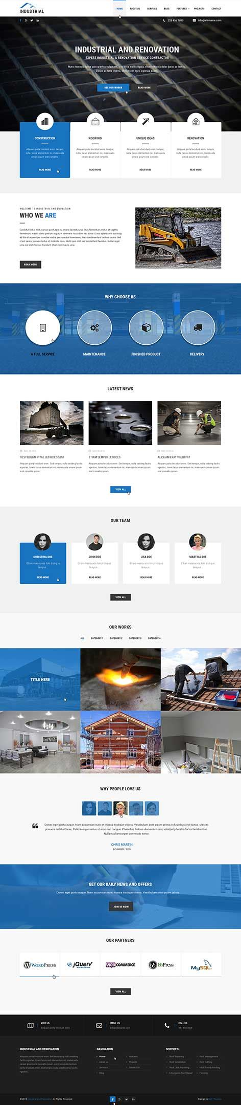 renovation theme automotive wordpress themes for automobile and repair of