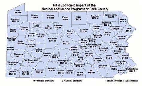 Welfare Office Philadelphia Pa by Dpw Health Care Spending Drives Local Economies
