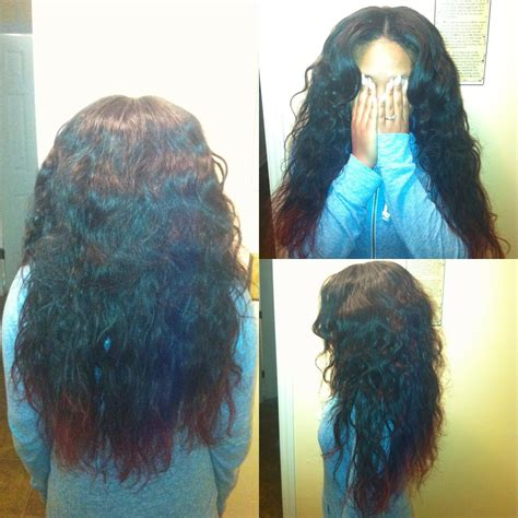 partial sew in hairstyles for synthetic hair partial sew in body wave brazilian hair done by me hair