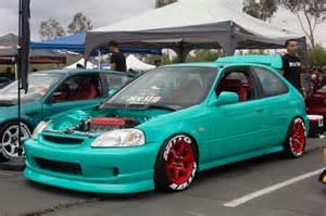 Turquoise Honda Civic 2016 Eibach Honda Meet