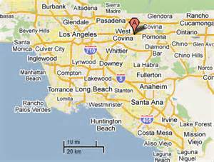 map of west covina california sighting reports 2011