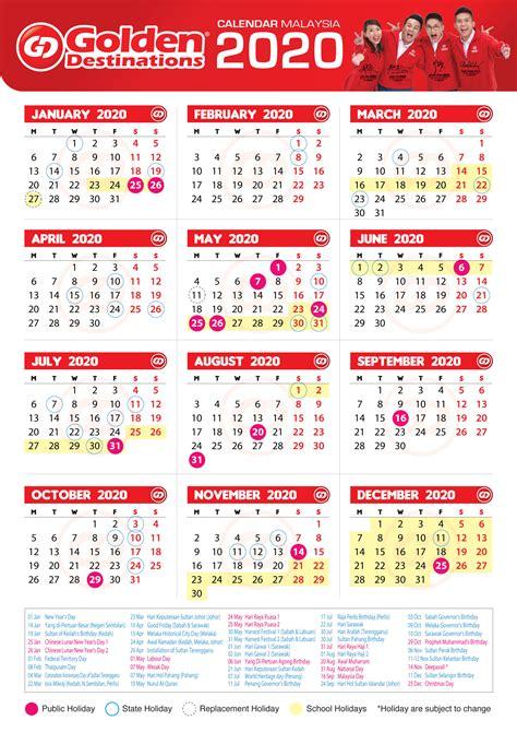 golden destinations  public holidays  malaysia