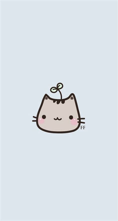 wallpaper cats kawaii kawaii cat simple iphone wallpaper panpins iphone