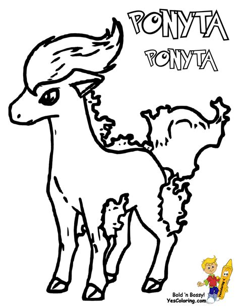 pokemon coloring pages rapidash pokemon ponyta coloring pages