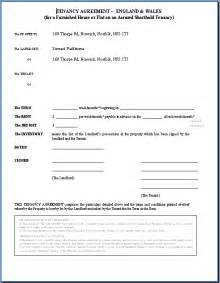 Landlord Agreement Template by Tenancy Agreement Template Http Webdesign14
