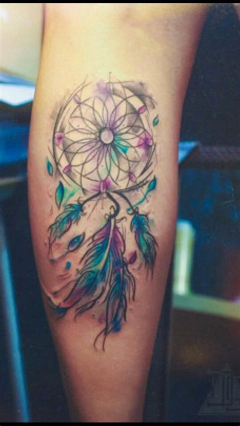 cute and simple watercolor dreamcatcher i n k