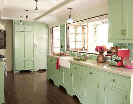 Mint Green Kitchen Cabinets by Color In The Kitchen The Decorologist