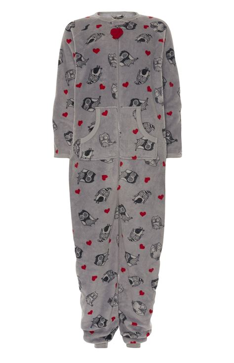 For Primark by An Extraordinary Grey Owl Sherpa Onesie For Primark