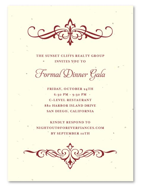 corporate dinner invitation template plantable invitations fundraising