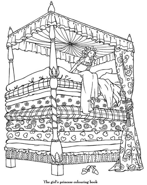 coloring pages princess and the pea princess colouring page princess and the pea