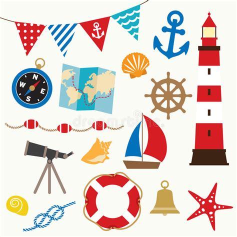 sailing boat elements sailing elements stock vector illustration of flag
