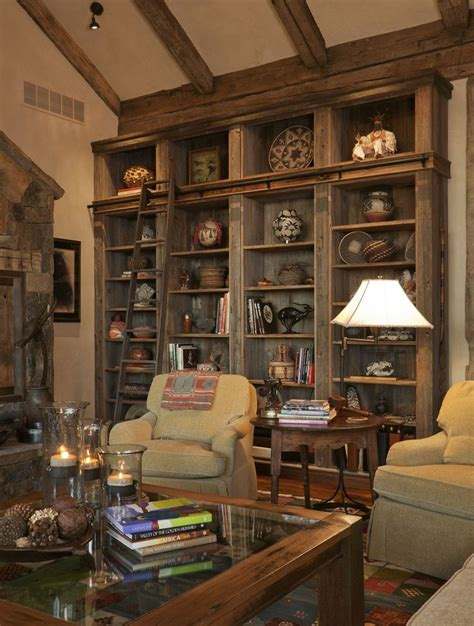 rustic bookcases the feeling of home