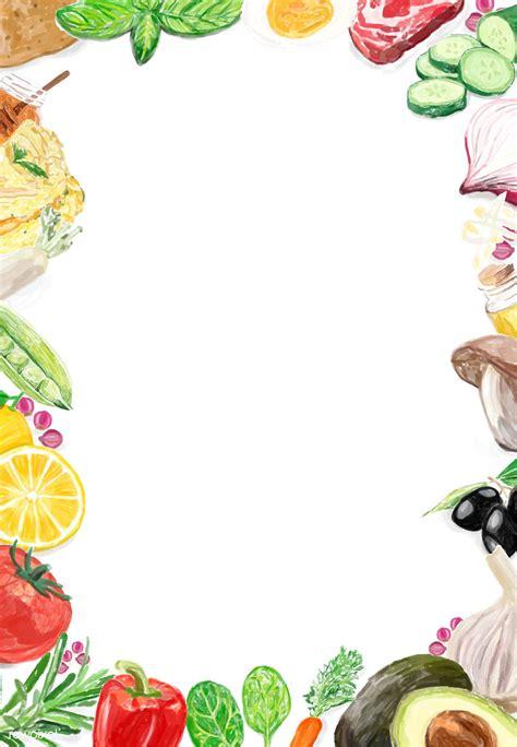 hand drawn vegetable frame  design space  image