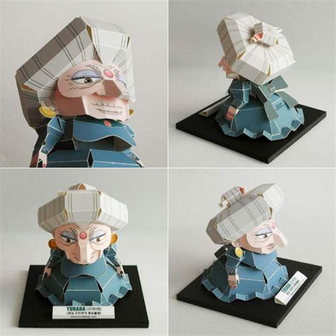 Spirited Away Papercraft - spirited away yubaba free papercraft papermodeler