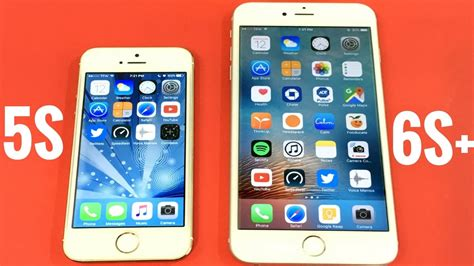 iphone 5s vs iphone 6s plus ios 10 0 2