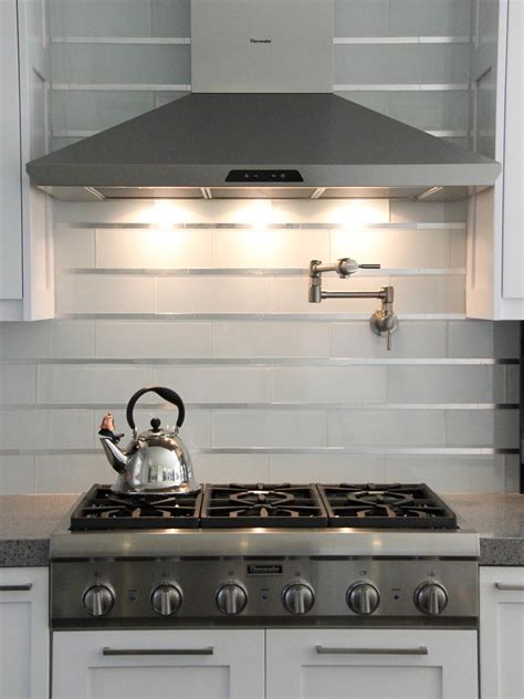 White Glass Subway Tile Kitchen Backsplash Photos Hgtv