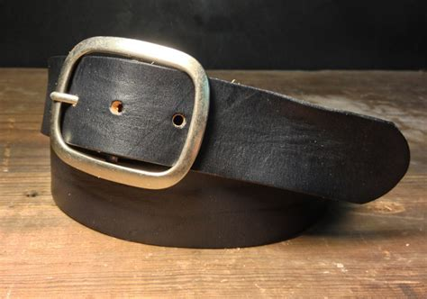 Handmade Belts Usa - black leather snap belt b100 handmade in usa