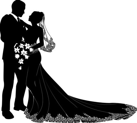 Bride and groom vector Free vector in Encapsulated ... Free Clipart Bride Silhouette