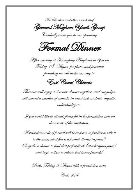 Best Photos Of Formal Dinner Invitation Wording Formal Business Dinner Invitation Wording Formal Dinner Invitation Template