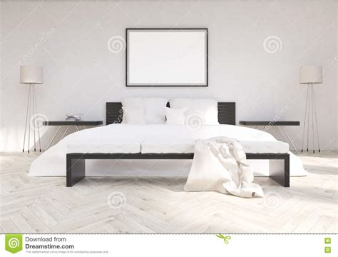 front bedroom bedroom interior with blank frame stock illustration