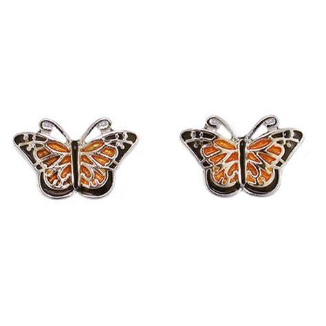 monarch butterfly post earrings