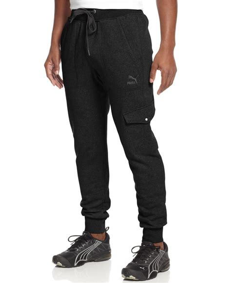 cargo jogger black by manly foster knit cargo jogger in black for lyst