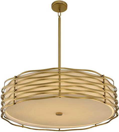 Drum Pendant Light Fixture Kalco 312754vbr Modern Vintage Brass Led Drum Pendant Light Fixture Kal 312754vbr