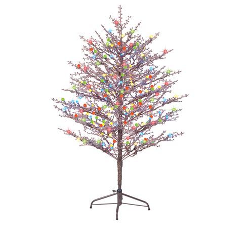 ge christmas tree lights shop ge 5 ft indoor outdoor pre lit winterberry brown