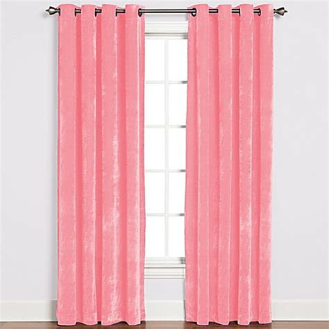 Pink Grommet Curtains Buy Plush Grommet Top 84 Inch Window Curtain Panel In Pink From Bed Bath Beyond