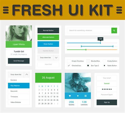ui decorator pattern check out free amazing fresh ui kit psd designhill