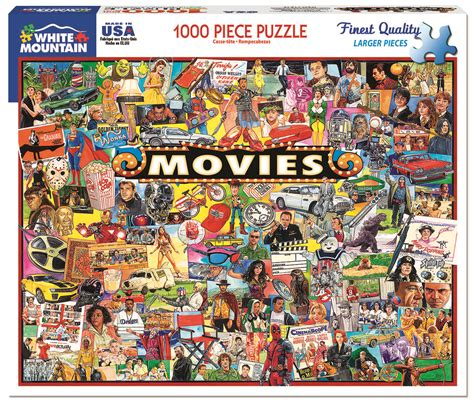 film jigsaw puzzles the movies 1000 piece puzzle white mountain puzzles