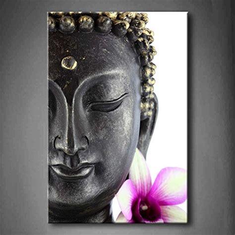 [Framed] Buddha Purple Flower Religious Canvas Art Print