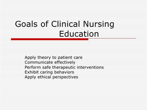 nursing career goals and objectives nursing career goals and objectives goals of clinical