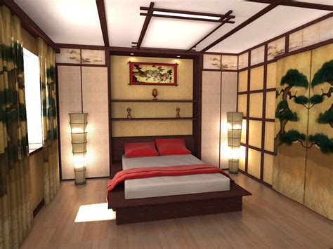 Japanese Bedroom | ceiling design ideas in japanese style