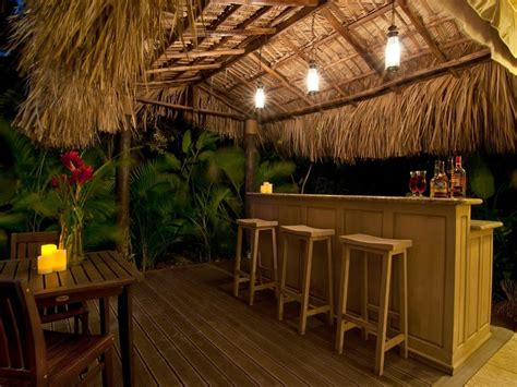 tiki bar outdoor patio bars ideas pinterest tiki