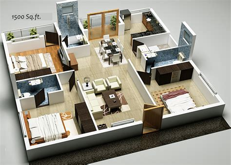 1500 sq ft floor plans open floor plans 1500 square house plans from