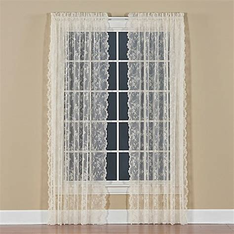 63 inch curtains bed bath beyond buy petite fleur 63 inch rod pocket window curtain panel