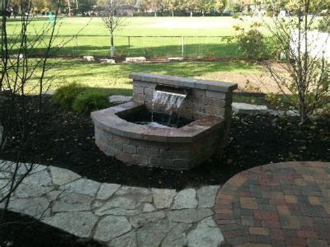 Patio Water Features Water Feature In Park Ridge Il Patios Hardscapes