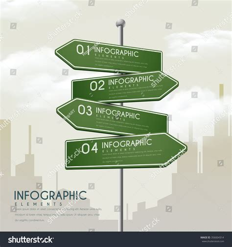 creative road design elements vector creative infographic design road sign elements stock