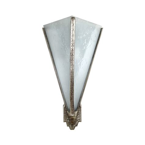 deco wall decor deco bronze cast triangular theater light with seedy