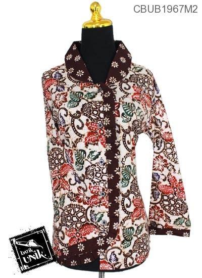 Baju Panjang Motif baju batik blus panjang motif kembang tumpal blus lengan panjang murah batikunik